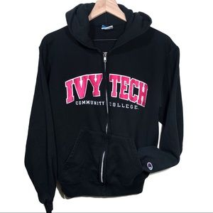 Vtg Indianapolis Ivy Tech Community College Hoodie
